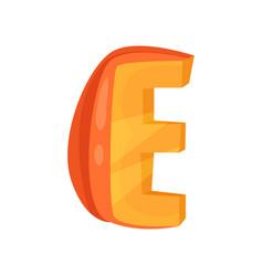 E veggie vegetable english alphabet letter made vector