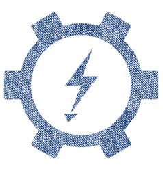 Electric energy gear wheel fabric textured icon vector