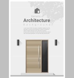 Elements of architecture front door background 3 vector image