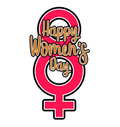 female gender symbol happy women day vector image