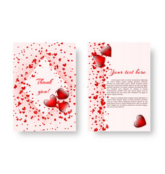 festive booklet with st valentines day vector image