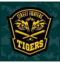 Fighting club emblem - tiger eye labels badges vector