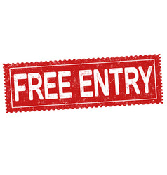 Free entry ticket or coupon vector