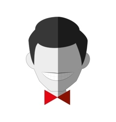 Gentleman comic character icon vector