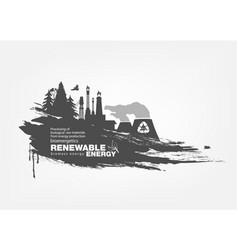 grunge biomass energy renewable energy vector image