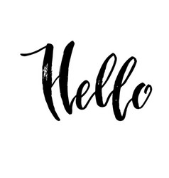 Hello calligraphy note vector