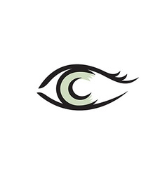 Human eye logo Smooth lines style vector image
