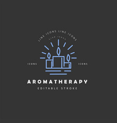 icon and logo for aromatherapy editable vector image