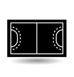 icon playground handball vector image