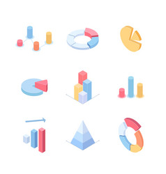 infographic charts and diagrams - set modern vector image