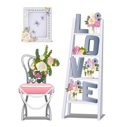 interior design in the room of the newlyweds vector image