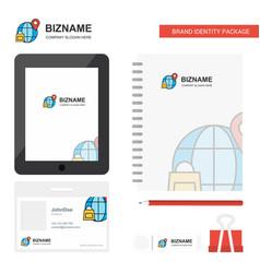 Internet business logo tab app diary pvc employee vector