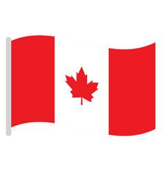 Isolated canadian flag vector