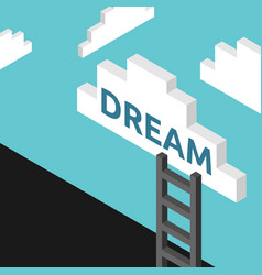 ladder to dream concept vector image