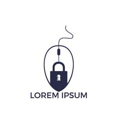 lock click logo design vector image