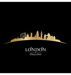 London England city skyline silhouette vector image