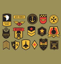 Military badges usa army patches american vector