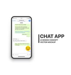 mobile chat app mockup vector image