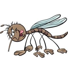 Mosquito character cartoon vector