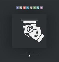 parking ticket vector image