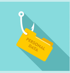 phishing personal data icon flat style vector image