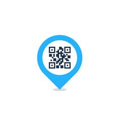 pin barcode logo icon design vector image