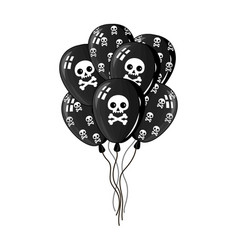 Pirate party air balloons icon vector