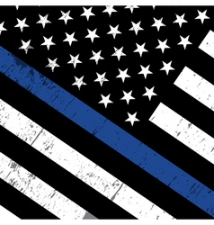 Police Support Flag Background vector