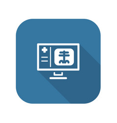 Radiology and medical services icon vector