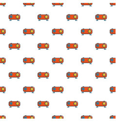 Retro orange radio receiver pattern vector