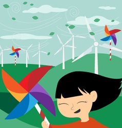 Save the Earth - Green economy for children vector