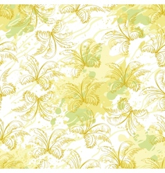 Seamless pattern contour plants vector image