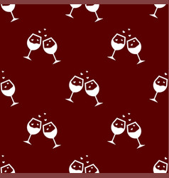 seamless wine pattern love symbol from icon vector image