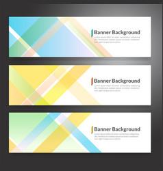 Set horizon abstract colorful banner vector
