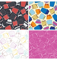 Set of seamless pattern with skirts vector