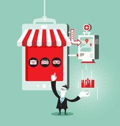 Shopping online concept vector