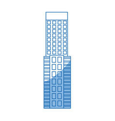 Skyscraper building tower city business vector
