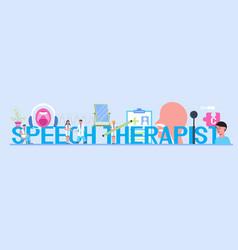 Speech therapist defectology for online vector