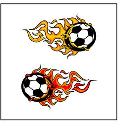 Sport ball flame set 2 vector