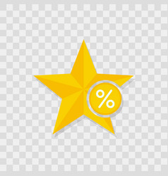 star icon percent icon vector image