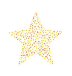 Star symbol consists of small stars vector image