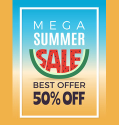 summer sale design template advertising vector image