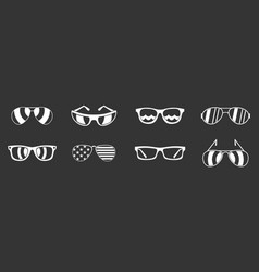 sun glasses icon set grey vector image