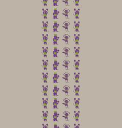 Taupe vertical border anthropomorphic vector