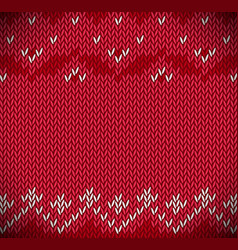 traditional fair isle style knitted vector image