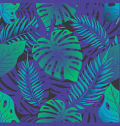 tropical rainforest seamless pattern vector image