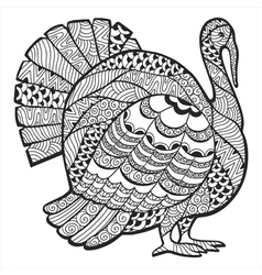 Turkey zentangle vector image