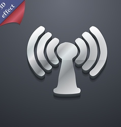 Wi-fi internet icon symbol 3D style Trendy modern vector image