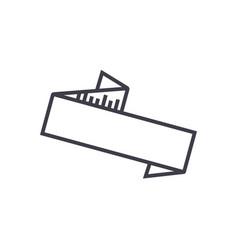zig zag ribbon line icon sig vector image vector image