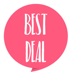 best deal tag red color isolated on white vector image vector image